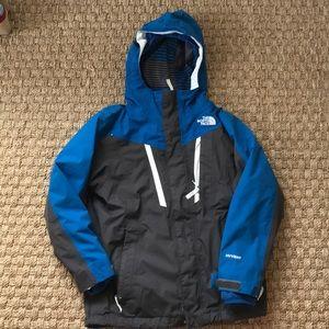 Boys Northface Ski Jacket Shell and Fleece Zip-In